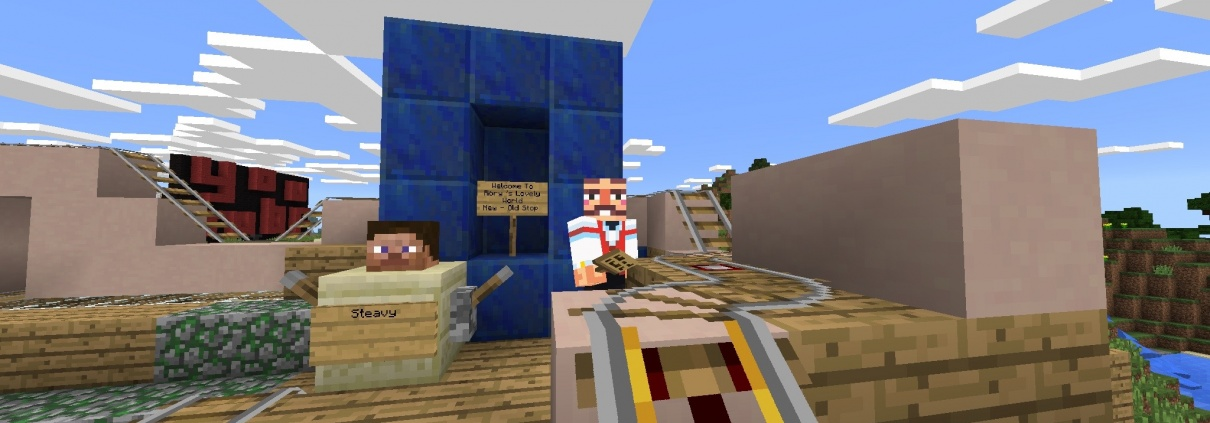 Steveys pitstop in Minecraft Lovely World