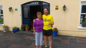 Teresa Brown of Clarevill House with Stevey