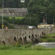 Stevey running across a bridge in county Meath