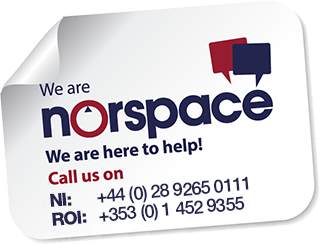 Norspace logo and contact details